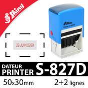 Tampon dateur personnalisable 50x30mm - Shiny S-827D