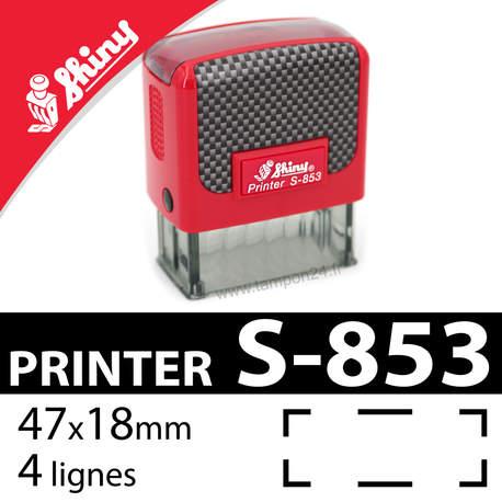 Tampon encreur Shiny Printer S-853