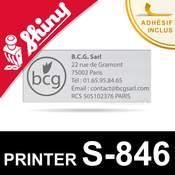 Empreinte Shiny Printer S-846