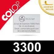 Empreinte personnalisable pour Colop 3300