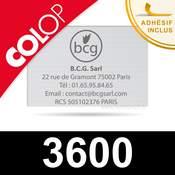 Plaque de texte caoutchouc personnalisée pour Colop 3600