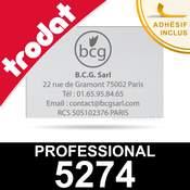 Plaque de texte pour tampon encreur Trodat Professional 5274