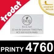 Plaque de texte personnalisée pour tampon Trodat Printy 4760