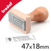 Tampon bois 47x18mm