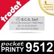 Empreinte personnalisée pour Trodat Pocket Printy 9512